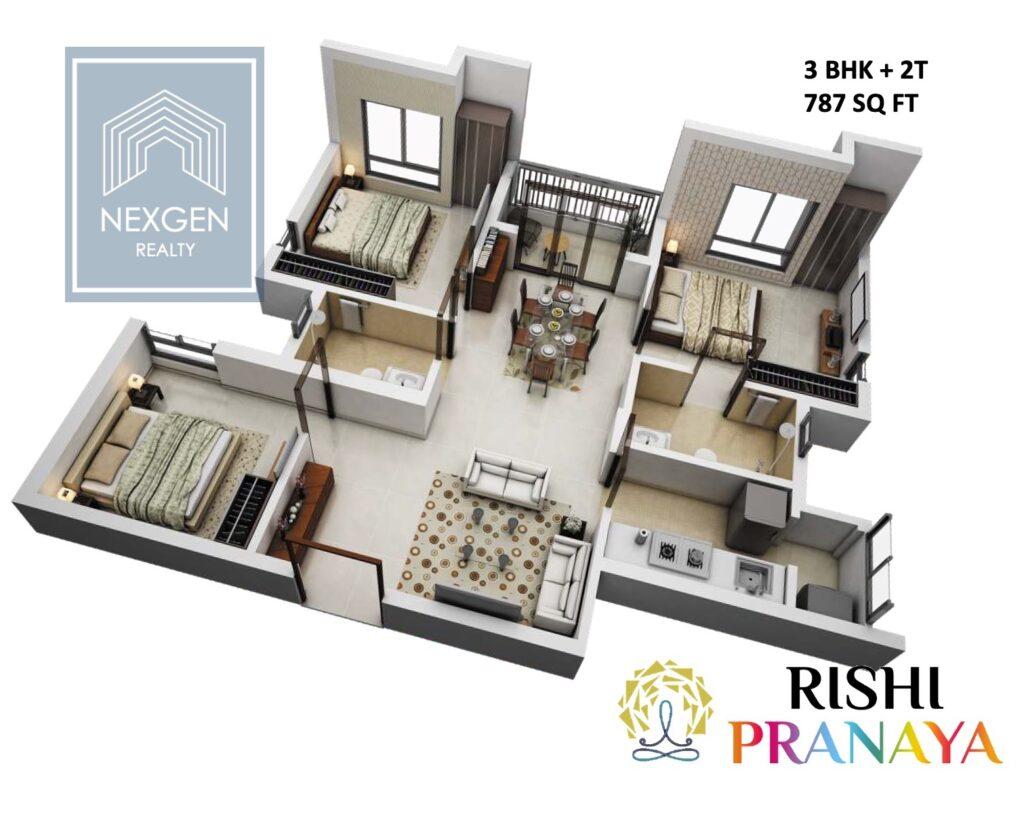 Rishi Pranaya Floor Plan 1