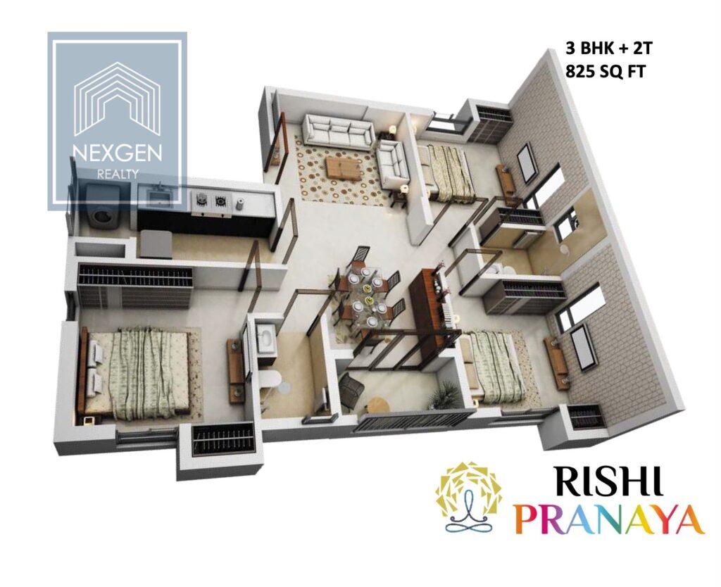 Rishi Pranaya Floor Plan 3