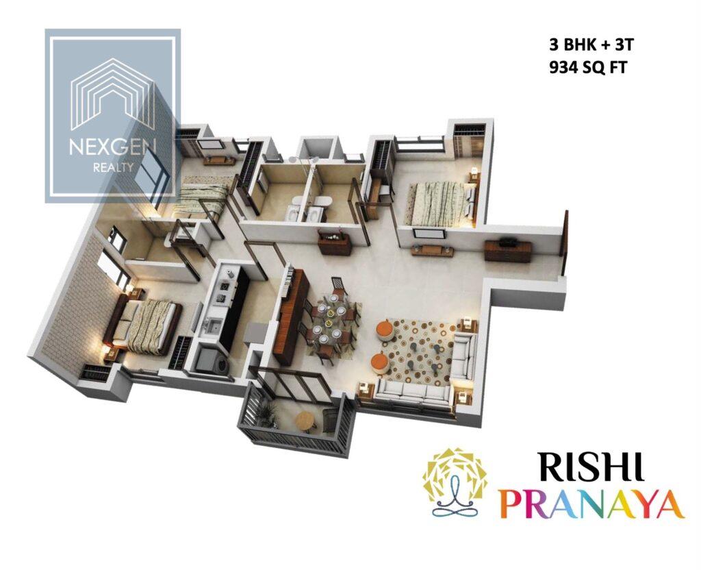 Rishi Pranaya Floor Plan 6