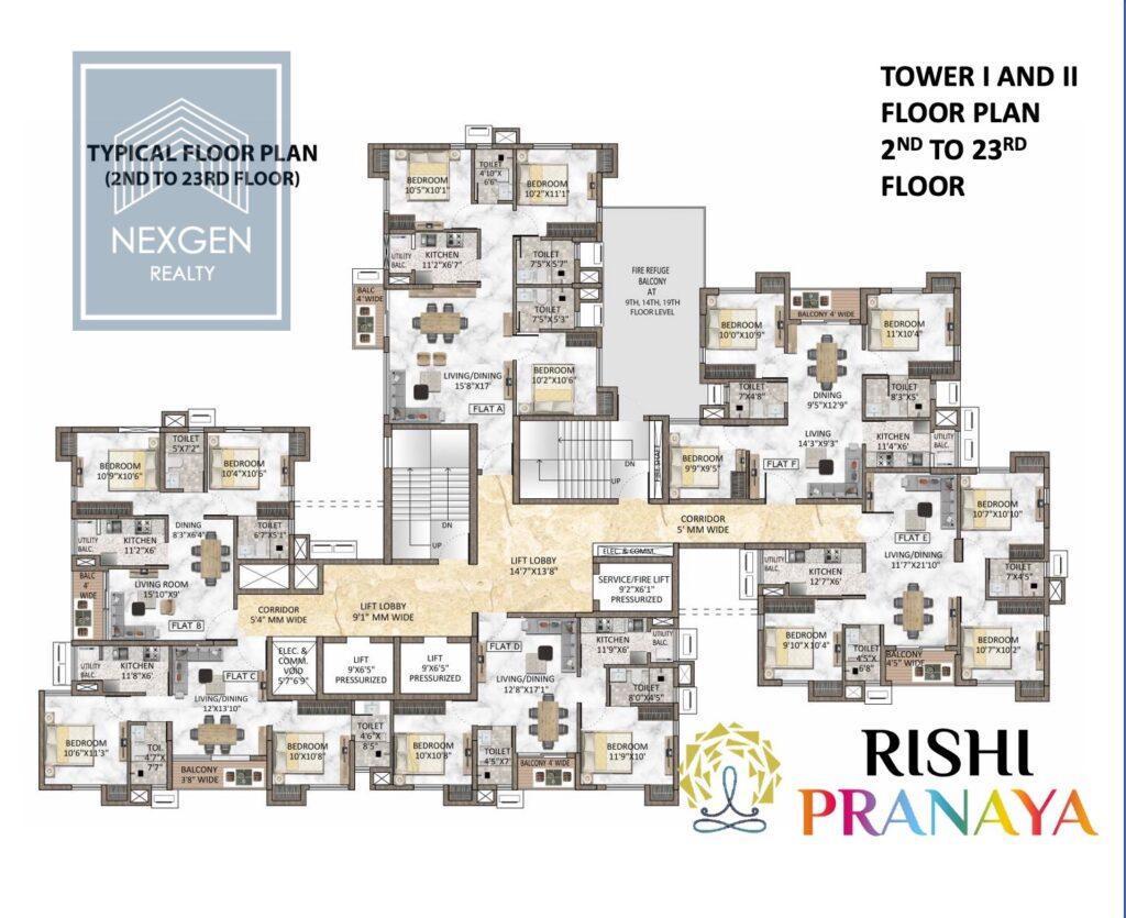 Rishi Pranaya Floor Plan 7